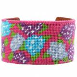 Needlepoint Cuff Bracelet Elise Francesca  . . .