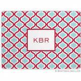 Kate Red & Teal Glass Cutting Board