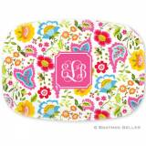 Personalized Bright Floral Platter By  . . .