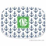 Anchors Navy Melamine Platter