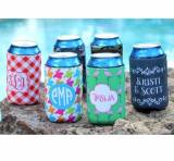 Monogrammed Can Koozie 50 Patterns
