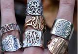 The Pink Monogram Rings