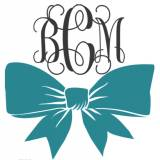 Monogram Vinyl Bow Decal  For Car