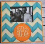 Monogrammed Hand Painted Wooden Frame In  . . .