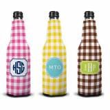 Personalized Classic Check Bottle Koozie  . . .