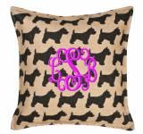 Monogrammed Westie Pillow