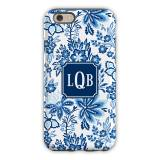 Personalized IPhone Case Classic Floral Blue
