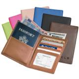 Personalized Leather Passport And Currency  . . .