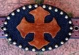 Loopty Loo Black Burlap With Leather Cross  . . .