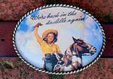 Loopty Loo Back In The Saddle Belt Buckle