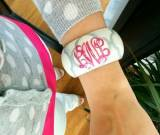Monogrammed Hand Painted Clover Bangle  . . .
