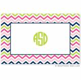 Boatman Geller Personalized Chevron Placemat