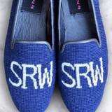 Needlepoint Monogrammed Loafer Or Mule