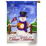 Collegiate Christmas Snowman Garden Flags