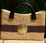 Queen Bea Large Coastal Beverly Zip Basket