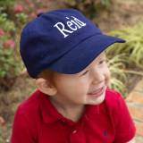 Monogrammed Child's Navy Ball Cap