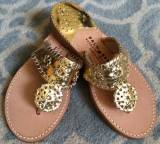 Gold With Gold Palm Beach Sandals