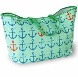Monogrammed Canvas Anchor Tote