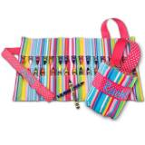 Pink Stripe Crayon Keeper