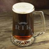 Personalized Glass Mug With Mustache