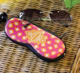 Monogrammed Eyeglass Case In 100 Pattern  . . .