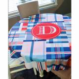 Monogrammed Round Table Cloth 70 Inches  . . .