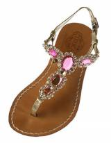 Pink Jeweled Sandals The Emilia