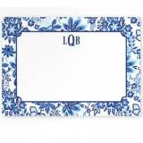 Boatman Geller Personalized Floral Blue  . . .