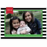 Personalized Stripe Black Flat Photocard