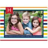 Personalized Stripe Multi Flat Photocard
