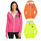 Monogrammed Juniors Neon Zip Up Jacket