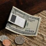 Monogrammed Money Clip Carbon Fiber