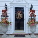 Three Letter Crest Metal Door Monogram  20