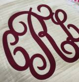 Large Garnet Pendant Font Custom Digitized Is  . . .