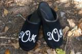 Black Suede With White Classic Monogram  . . .