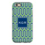 Personalized IPhone Case Blaine Navy & Kelly
