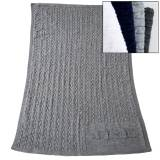 Monogrammed Cable Knit Blanket 50' By 62