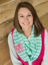 Monogrammed Infinity Scarf In Mint Green  . . .