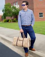 Monogrammed Mens Canvas Dawson Duffel Bag