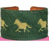 Equestrian Needlepoint Cuff