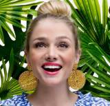 Lisi Lerch Large Gold Disc Earrings