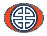 Loopty Loo Athena Orange And Navy Belt Buckle
