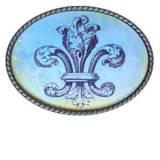 Loopty Loo French Blue Fleur De Lis Belt  . . .