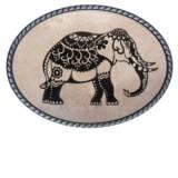 Loopty Loo Mehndi Elephant Belt Buckle
