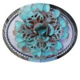 Loopty Loo Turquoise Metal Blossom Belt  . . .
