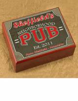 Personalized Cigar Humidor Neighborhood Pub
