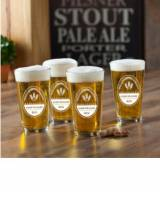 Personalized Glass Set Brewing Company Pub