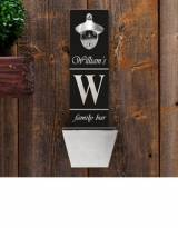 Personalized Bottle Opener And Cap Catcher  . . .