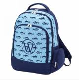 Monogrammed Blue Finn Backpack With Device  . . .