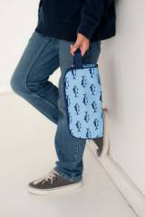 Monogrammed Toiletry Bag In Finn Fish Print